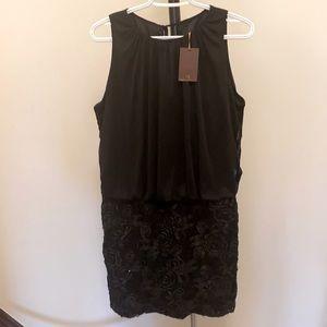 Cachet Black Blouson Cocktail Dress